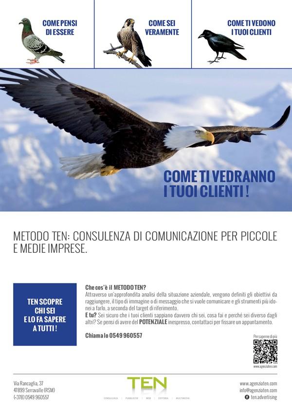 Campagna-Pubblicitaria-Metodo-TEN-piccione-aquila-corvo