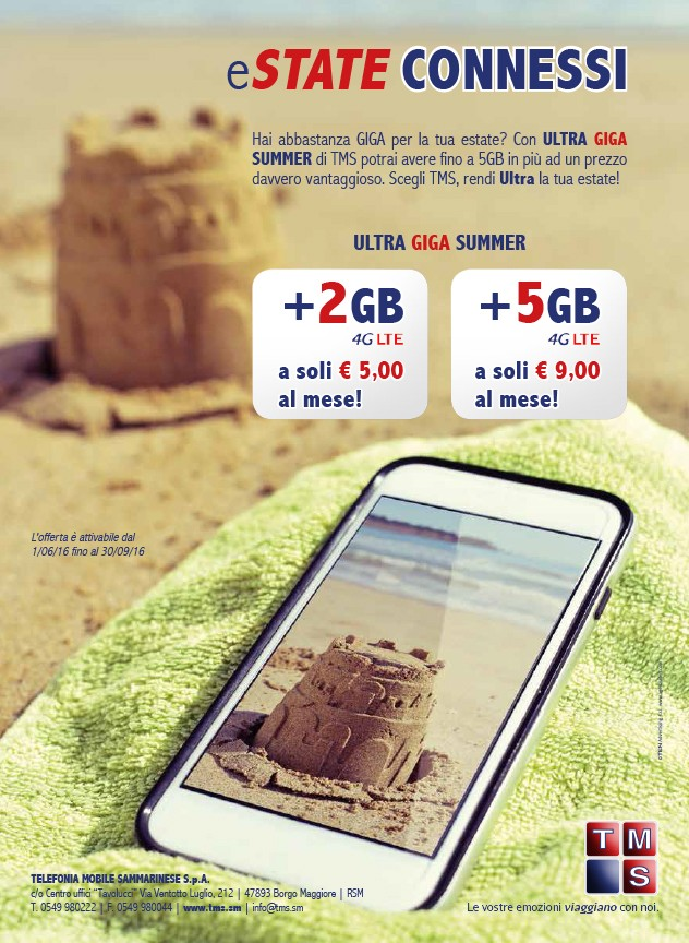 Campagna-pubblicitaria-Telefonia-Sammarinese-Estate-Smartphone-castello-sabbia
