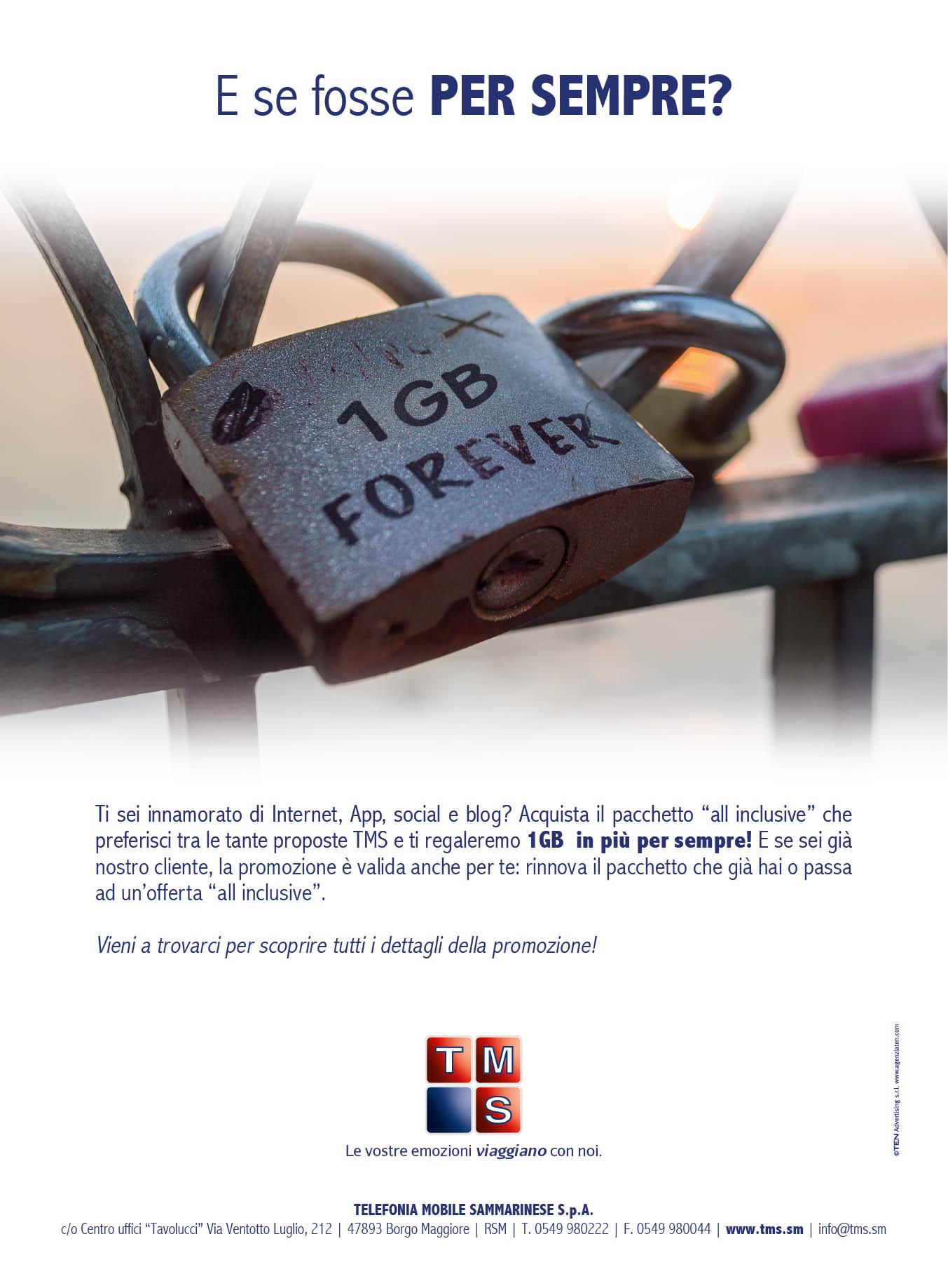 TEN-advertising-campagna-pubblicitaria-Telefonia-mobile-San-marino-1-Giga-Gratis-inserzione-la-tribuna