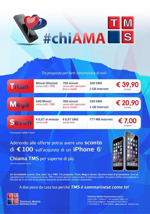 TMS Telefonia Mobile Sammarinese - Campagna Titan Mega Seven
